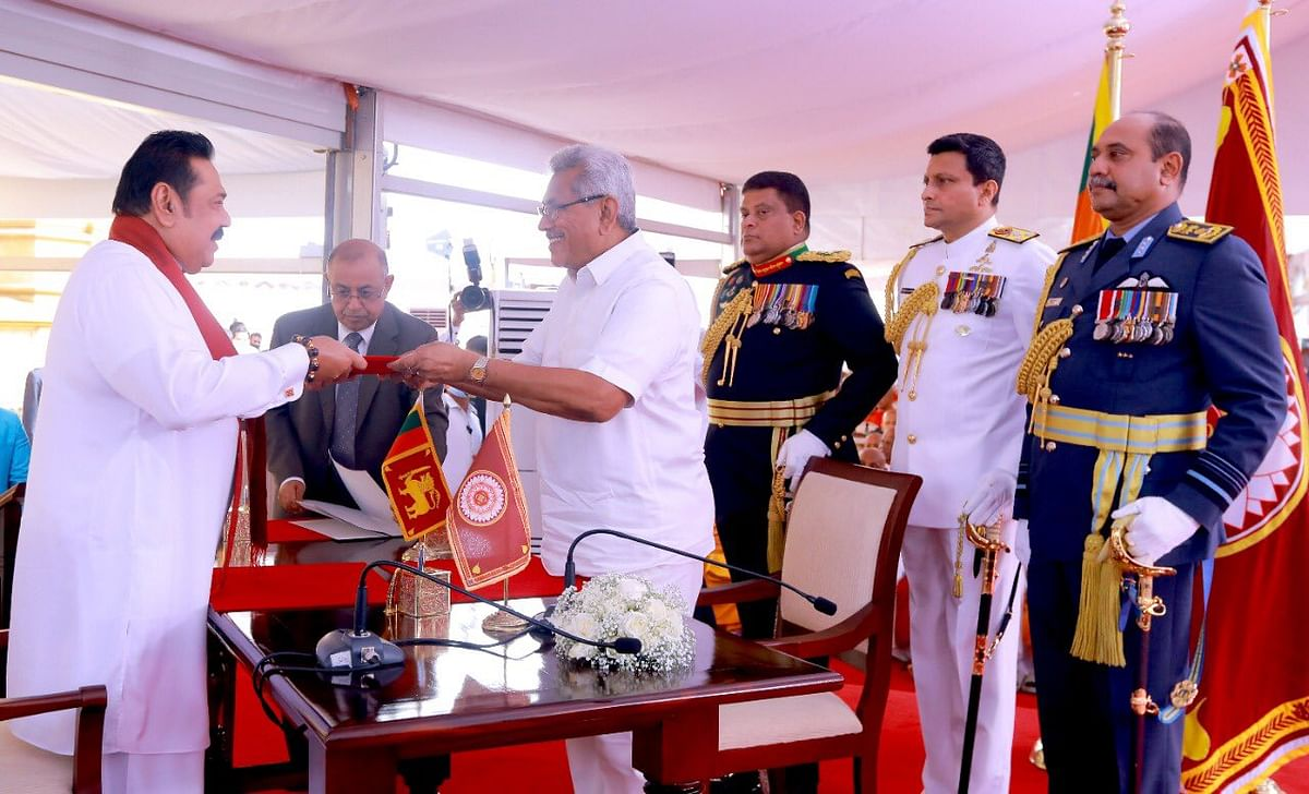 Mahinda Rajapaksa takes oath as Sri Lankan Prime Minister for fourth time