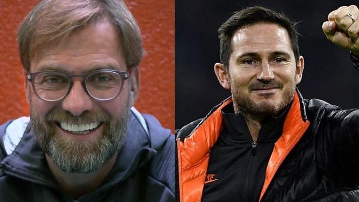 Jurgen Klopp (L), Frank Lampard (R)