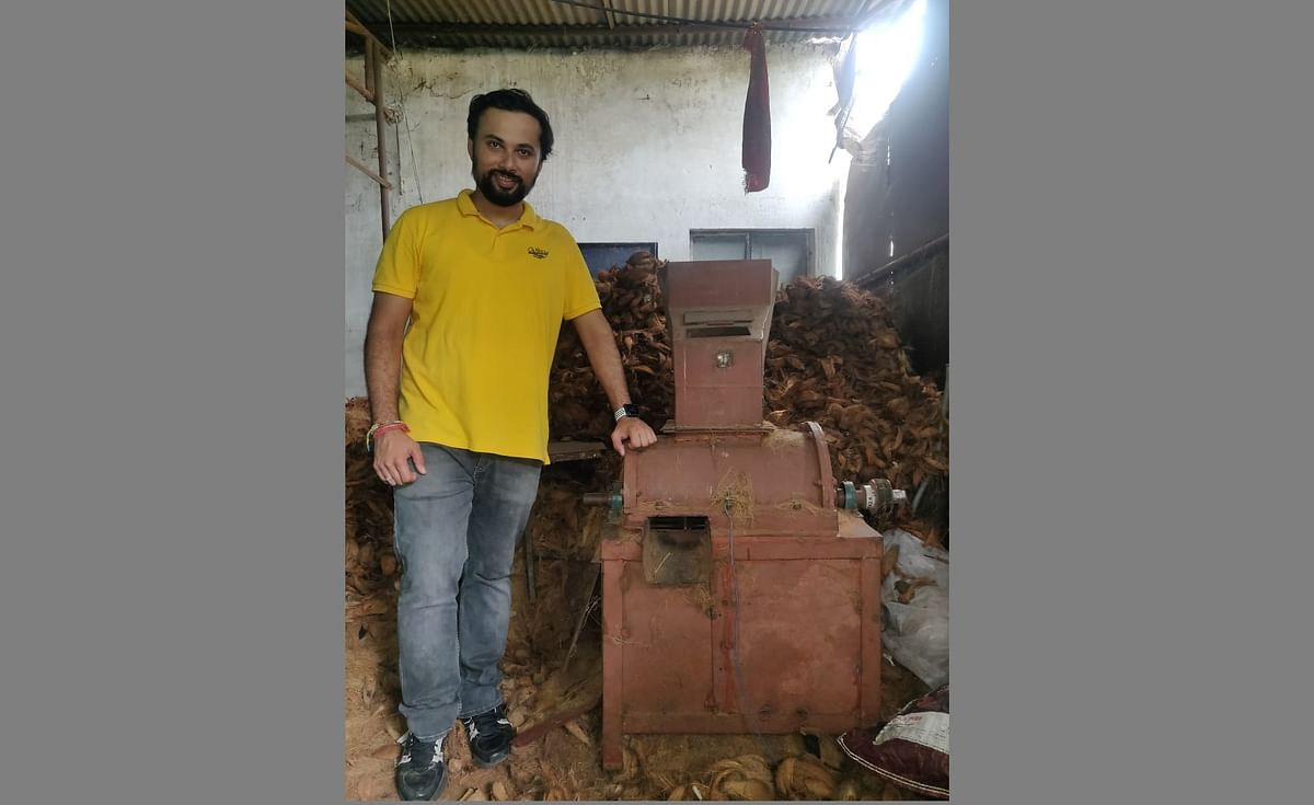 Bhopal: City lad Shobhit Nath Sharma donates coconut recycling machine worth Rs 10 lakh for Ram Temple
