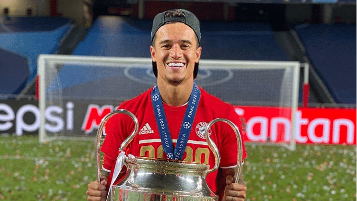 Philippe Coutinho with the Champions League trophy