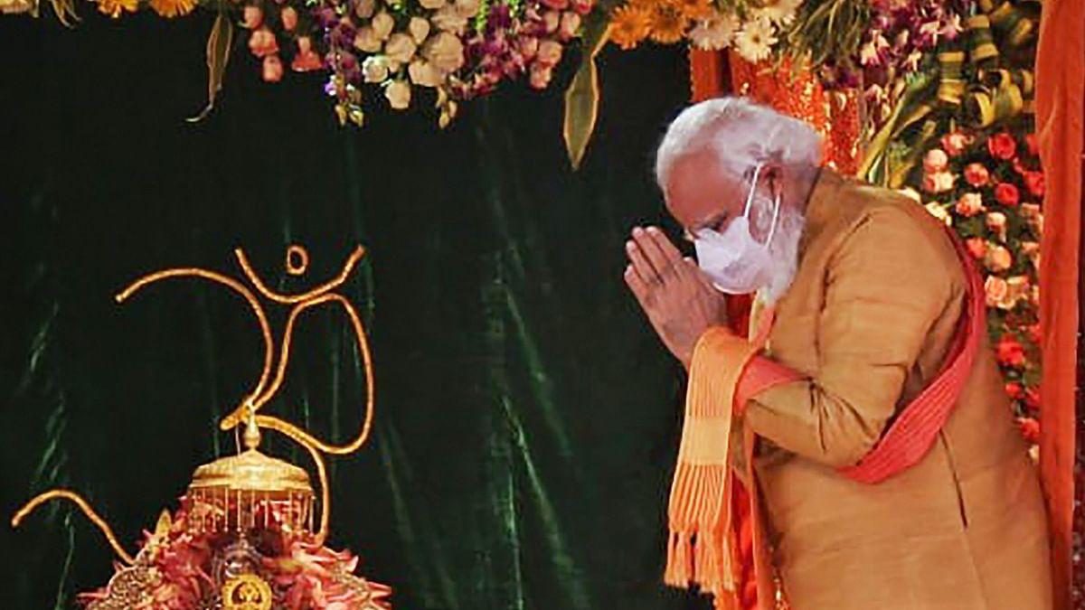 Prime Minister Narendra Modi offers prayers to Ram Lalla at Ram Janmabhoomi site in Ayodhya