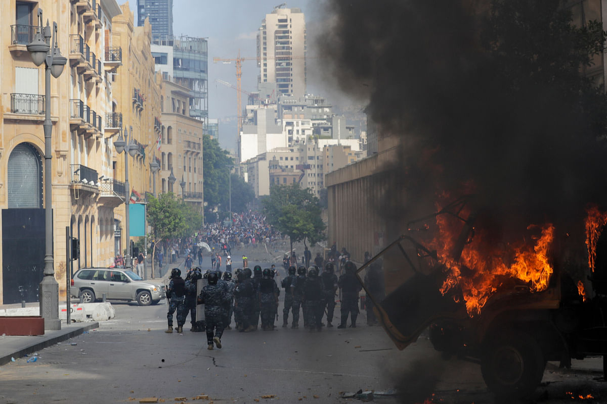 Lebanon faces another crisis: After Beirut blast, now protesters take over Foreign Ministry, storm banks