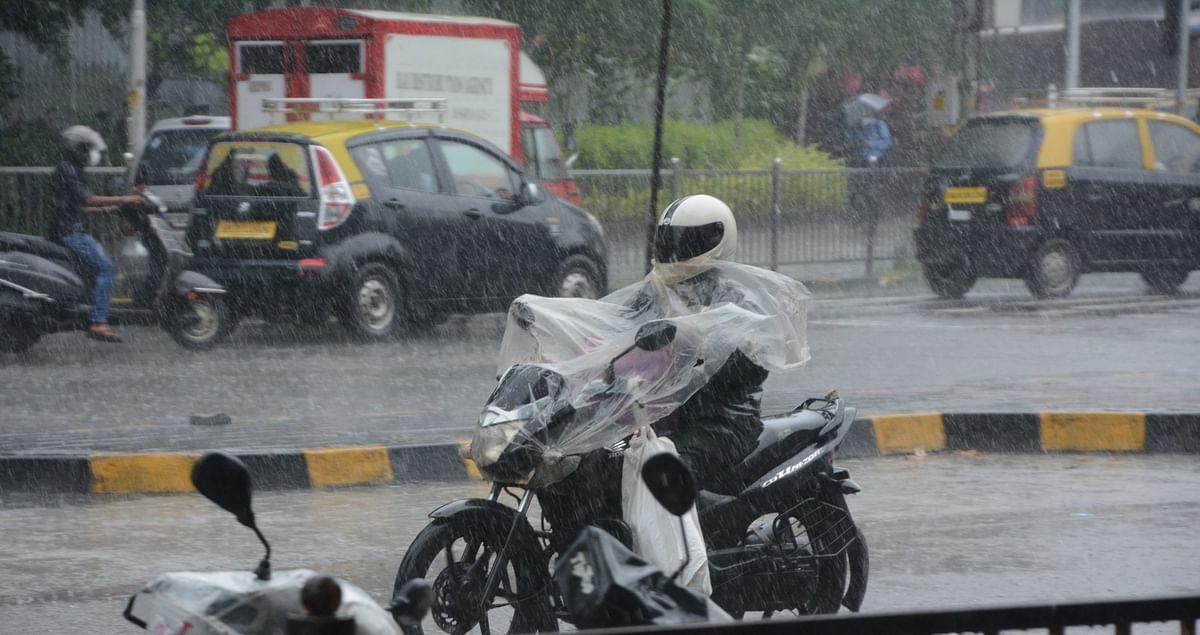 Heavy rain lashes Dadar on Friday.