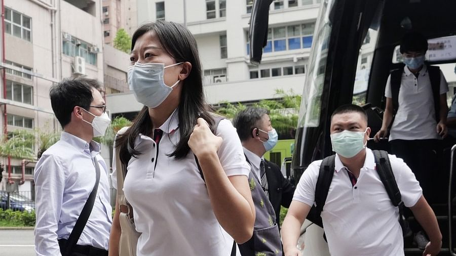 Members of the mainland nucleic acid testing team arrive at Metropark Hotel Kowloon in Hong Kong, south China, Aug. 28, 2020