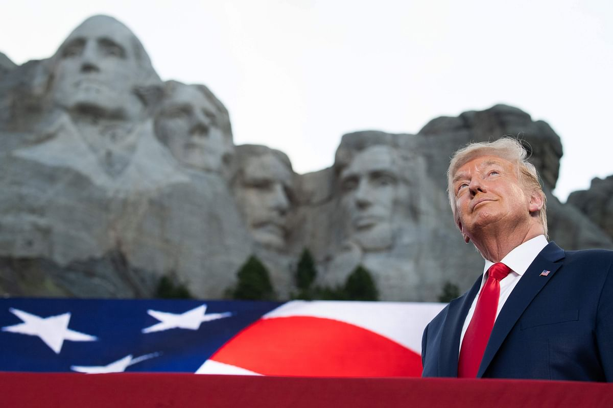 Donald Trump, the new face of Rushmore?