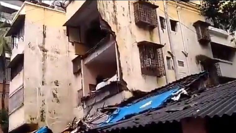 Mumbai Rains: Part of building collapses in Prabhadevi