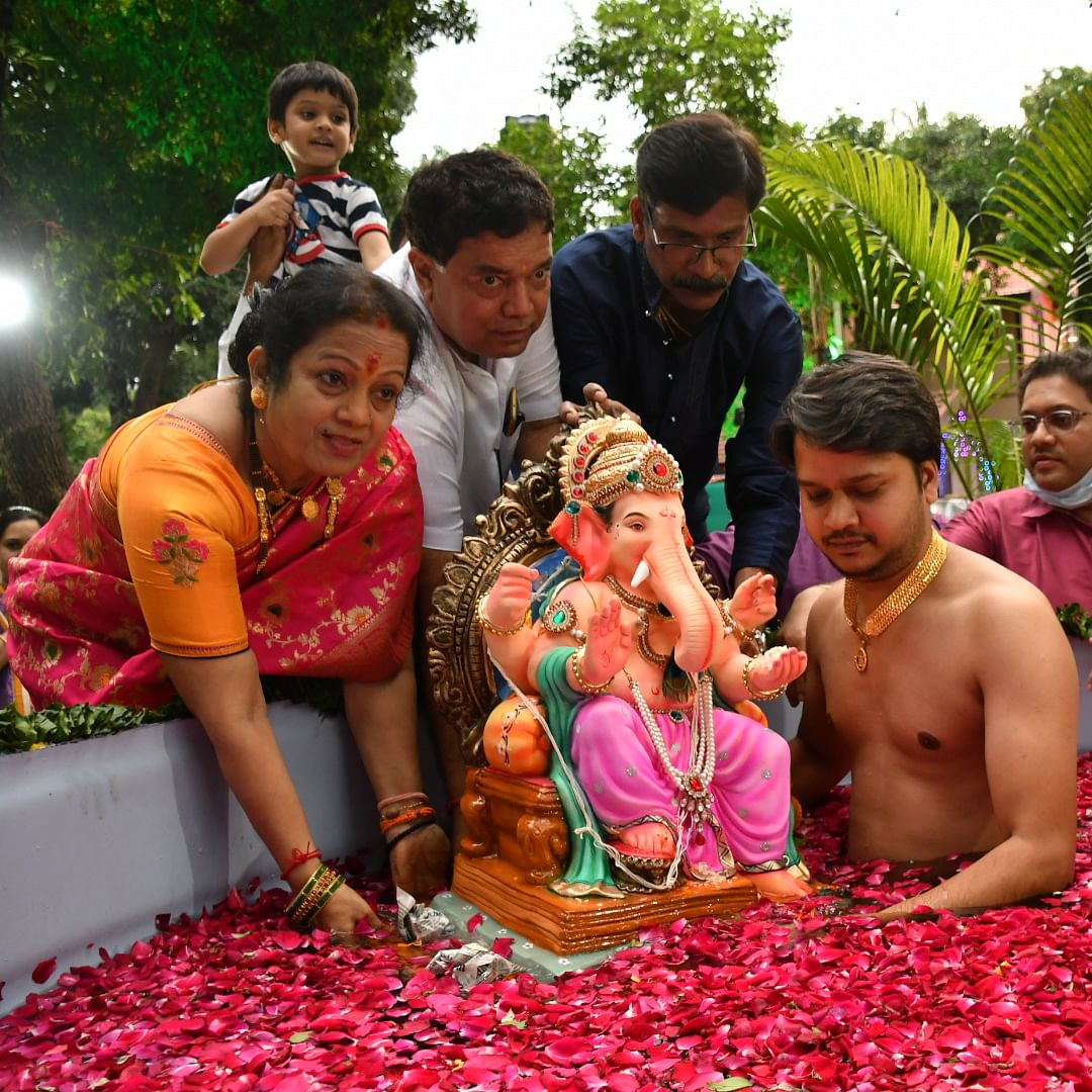 Day 5: 56% of Ganesh idols immersed in the artificial ponds