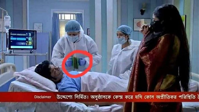 Next level jugaad: Bengali TV show uses Scotch-Brite bathroom scrubber as a defibrillator, leaves netizens in splits