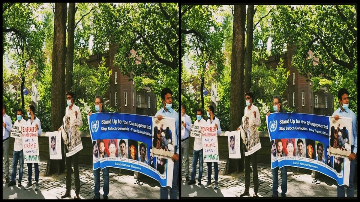 Anti-Pakistan protest in New York on International Day of Victims of Enforced Disappearances