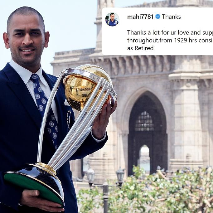 'You can't retire from our hearts': Twitter in mourning as MS Dhoni quits international cricket