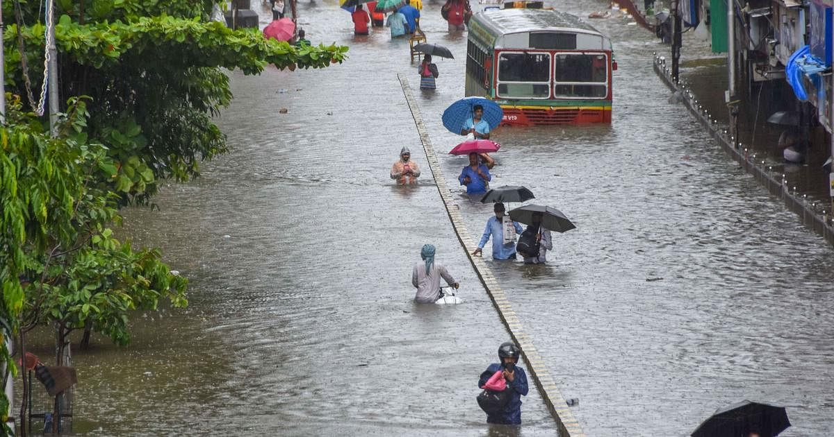 Heavy rainfall in Thane city, vehicles damaged in treefall
