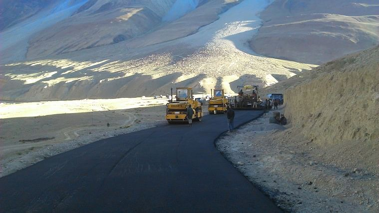 Blacktopping work on DS-DBO road