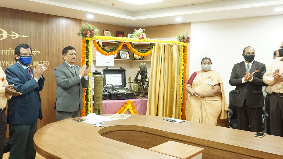 Defence Minister launches products Indigenized by BDL