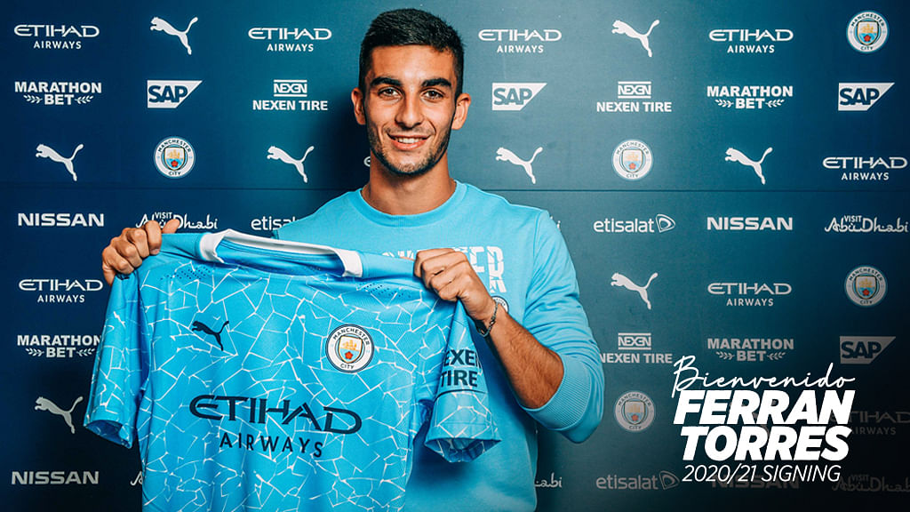 Manchester City recently signed Spain's winger Ferran Torres from Valencia