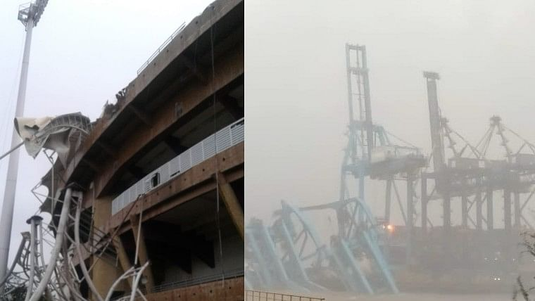 Navi Mumbai: 177 mm rainfall recorded in 24 hours; DY Patil stadium, JNPT suffers damage