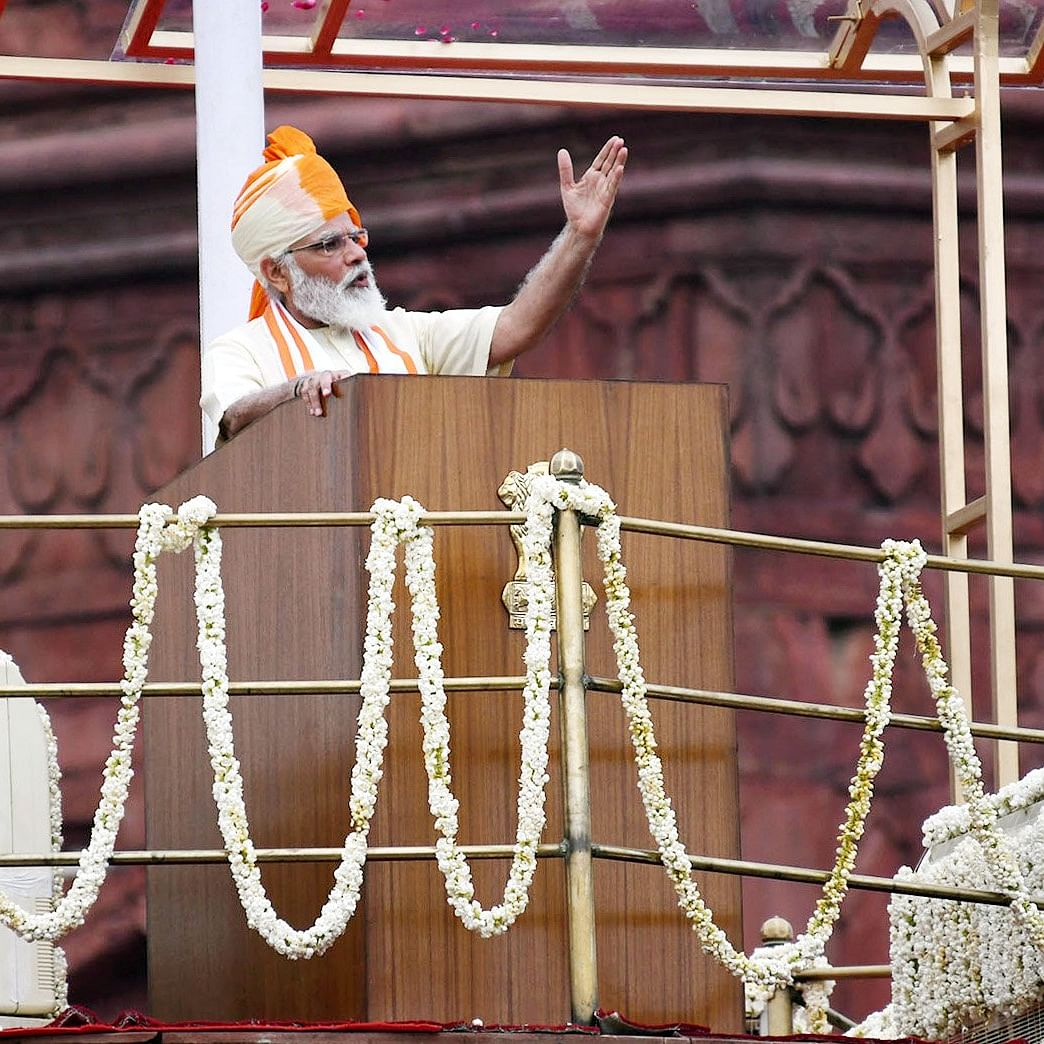 Was PM Modi's seventh Independence Day speech his longest?