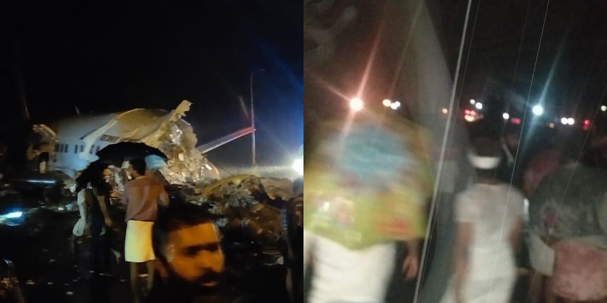 Calicut Air India Plane Crash: Pics and videos of shocking incident