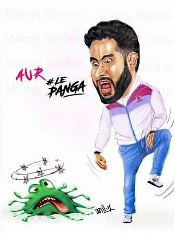 Aur Le Panga: Abhishek Bachchan shares quirky artwork defeating coronavirus in Kabaddi style