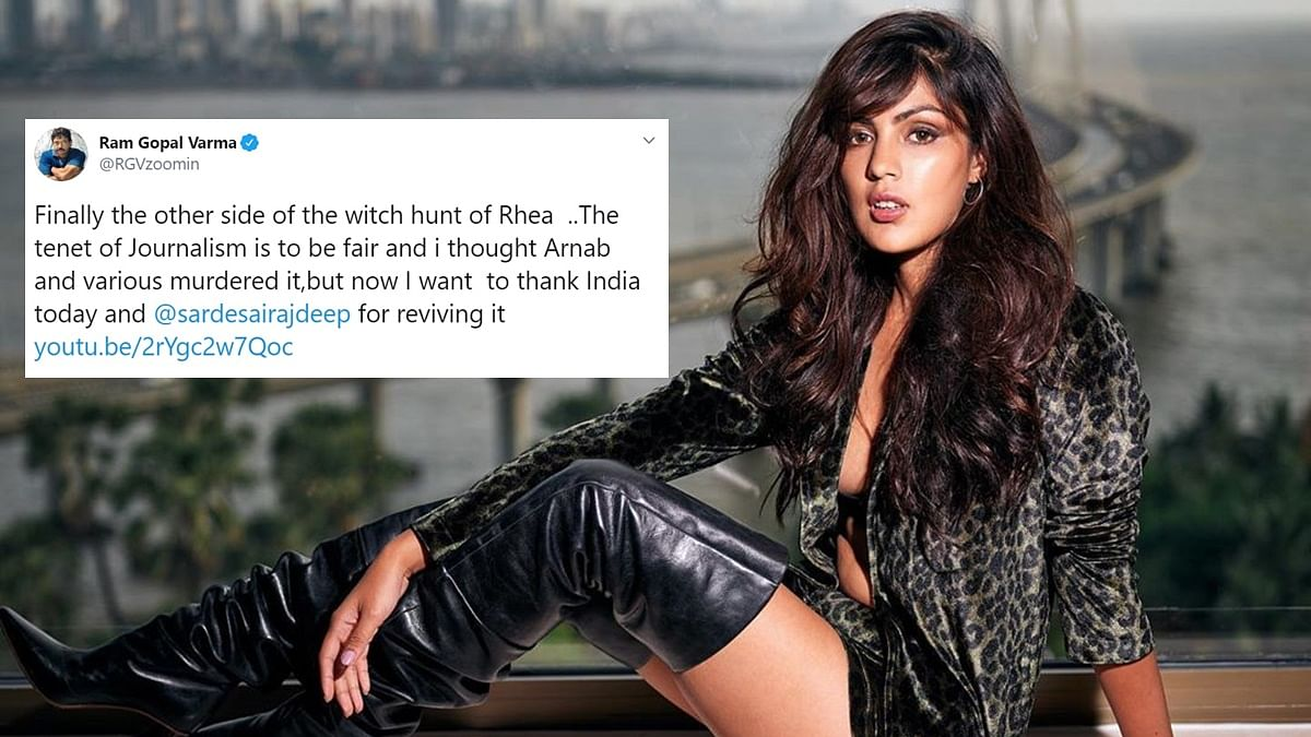 'Brave fight against misogynistic media': Twitter reacts to Rhea Chakraborty's interview with Rajdeep Sardesai