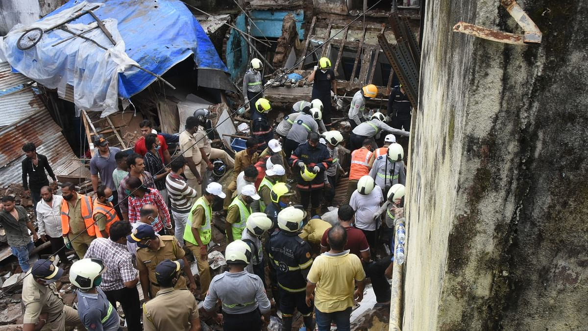 Mumbai: 2 dead, one critically injured after portion of three-storey residential building collapses in Nagpada