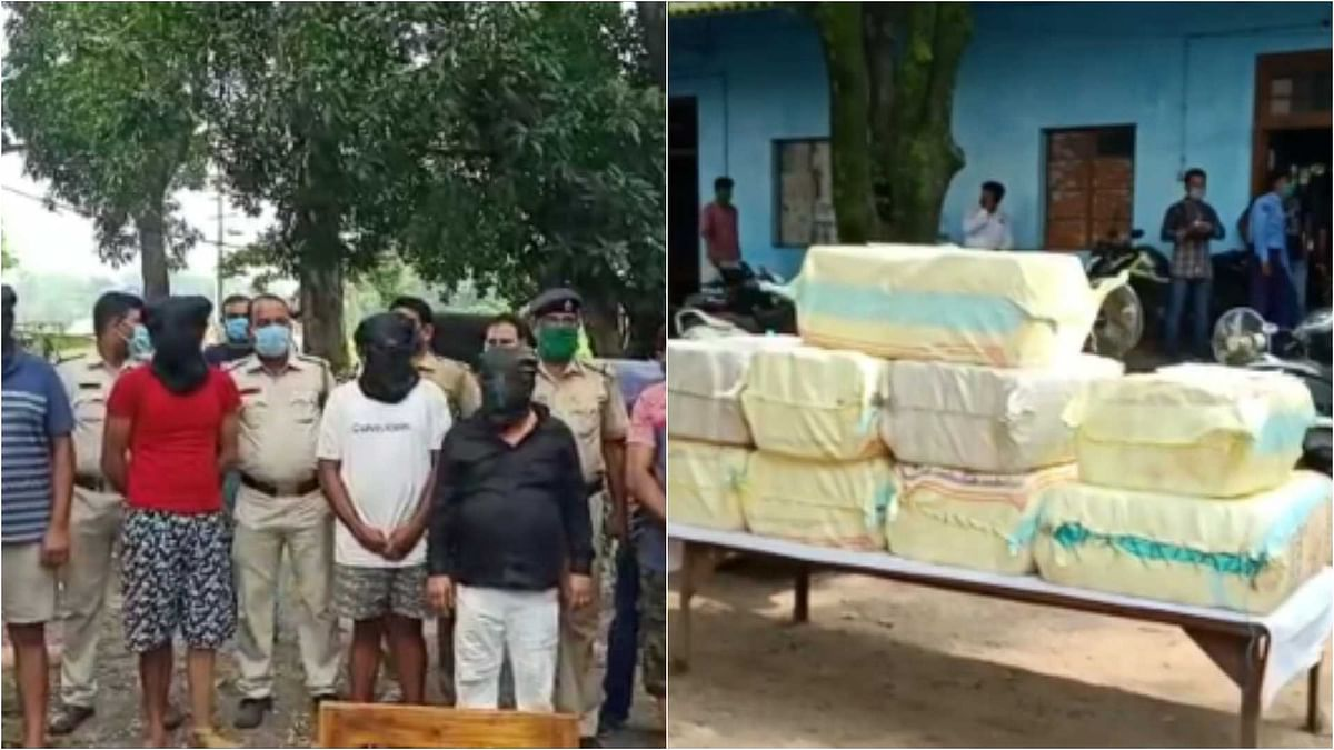 West Bengal: 5 arrested with 330 kg Ganja in Kanyapur area of Asansol