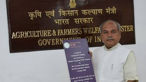 Union Minister of Agriculture & Farmers' Welfare Shri Narendra Singh Tomar launches the Sahakar Cooptube NCDC Channel (Representative Photo)