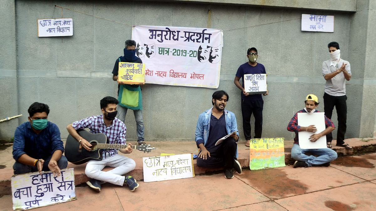MP School of drama rusticates 8 students who staged protest