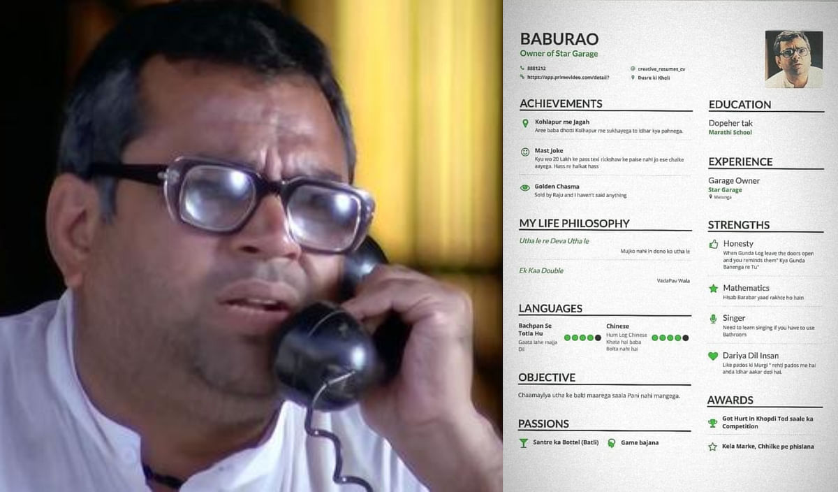 Paresh Rawal loves Baburao's 'CV', Twitter can't keep calm