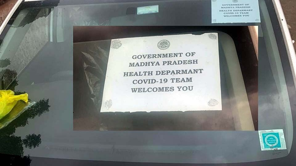 Bhopal: I-T teams' use 'Covid-19 team welcomes you' stickers to escape hurdles