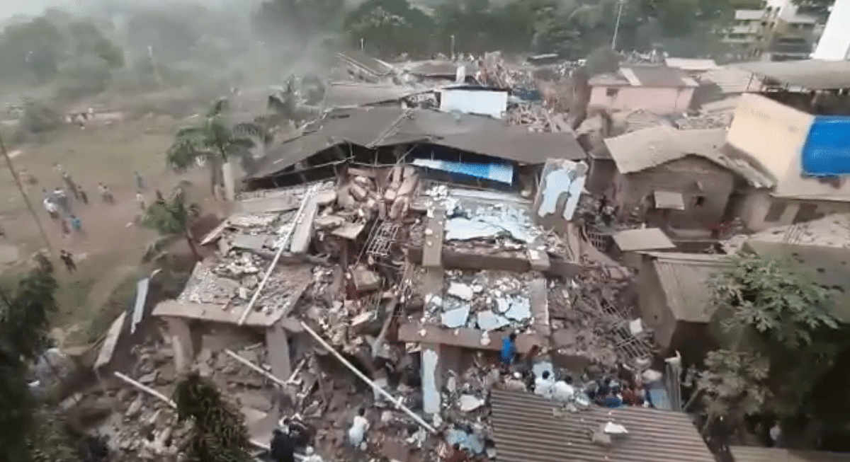 Building collapses in Maharashtra's Raigad; many trapped inside