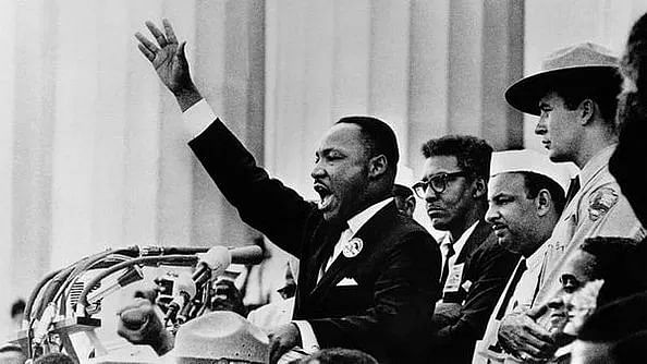 Martin Luther King Jr. delivering his famous 'I have a dream' speech