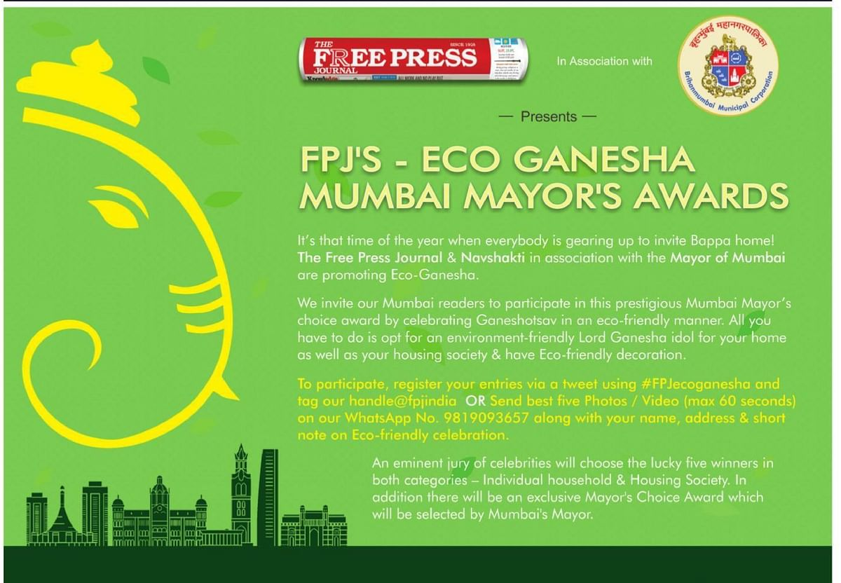 FPJ's Eco Ganesha: How your Ganesha could win an award from Mumbai Mayor