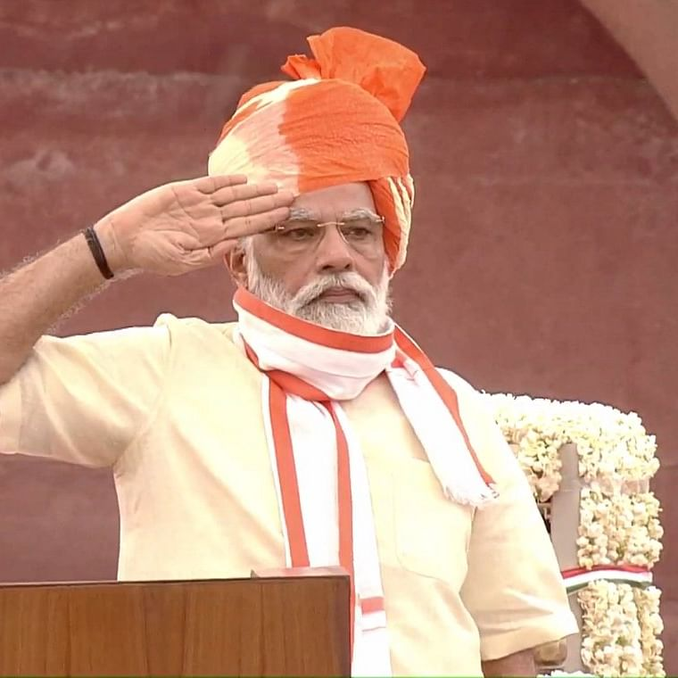 Narendra Modi becomes the first non-Congress PM to deliver 7 Independence Day speeches in a row