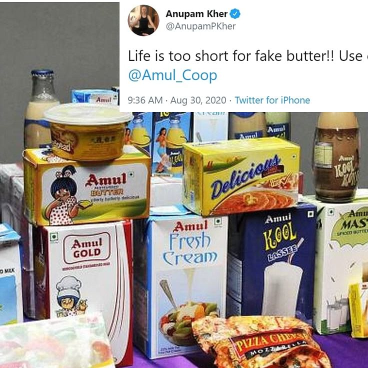 'Life is too short for fake butter': After LW Twitter's #BoycottAmul, RW hits back with #WeLoveAmul