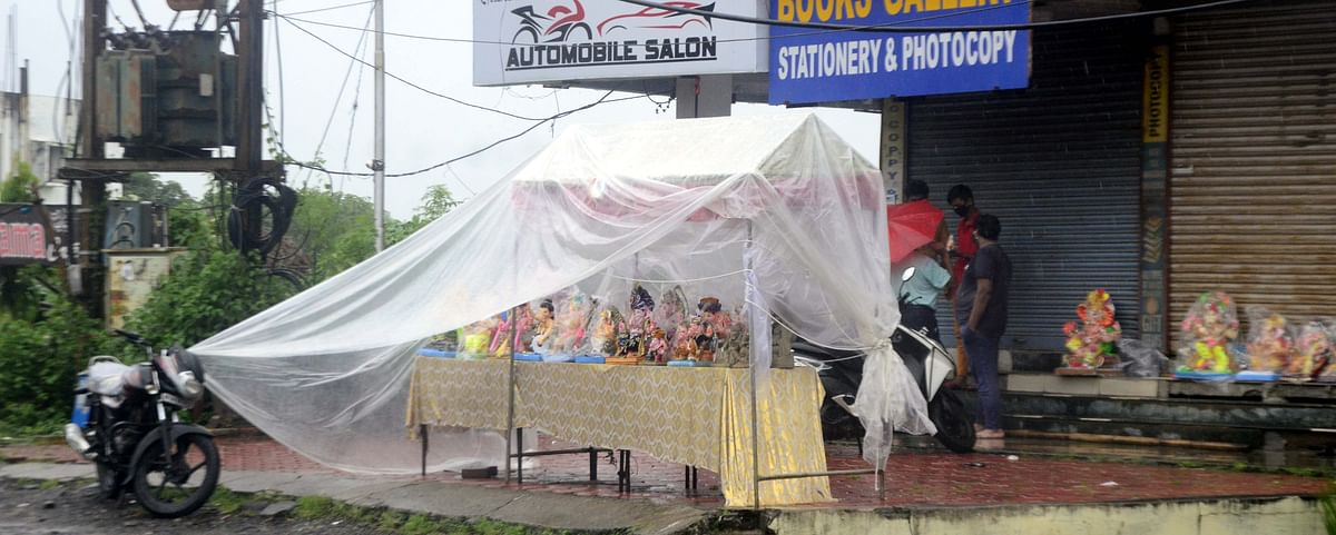 Bhopal: Heavy rains welcome Lord Ganesh to city