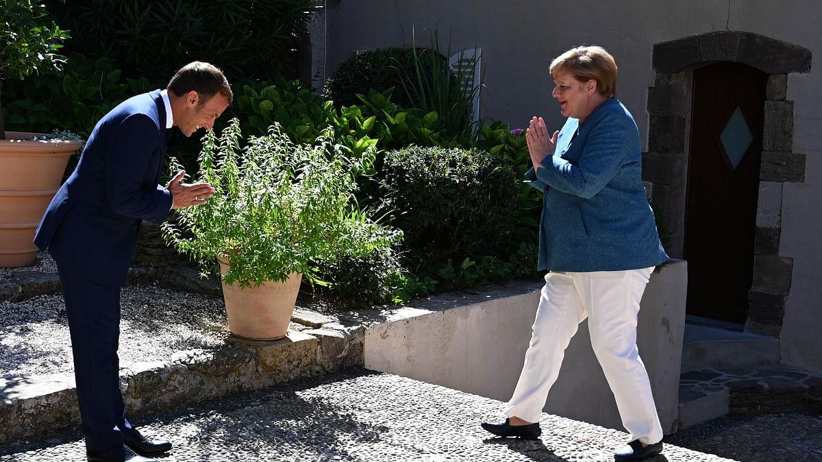 Phir Bhi Dil Hai Hindustani? Check out Emmanuel Macron and Angela Merkel's desi greeting