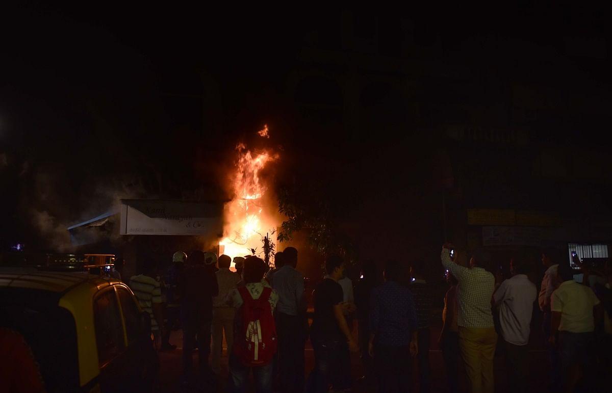 Mumbai: Fire breaks at Bahubali Building in Fort; one injured