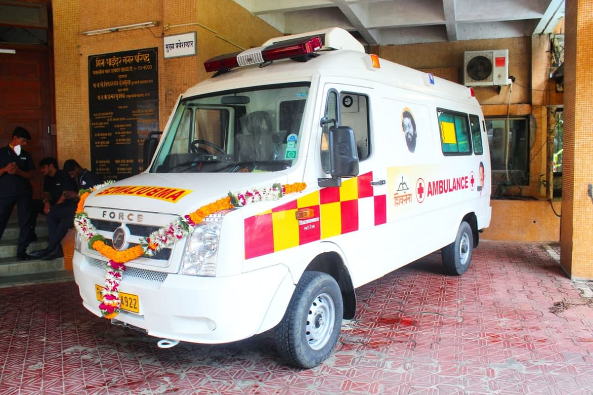 BJP objects to Sena symbol on govt funded ambulance