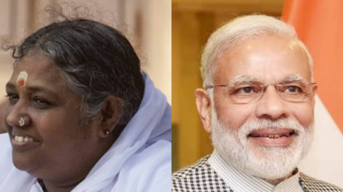 Mata Amritanandamayi wishes PM Modi on Rakhi; says may God give him the strength to protect the people of the nation