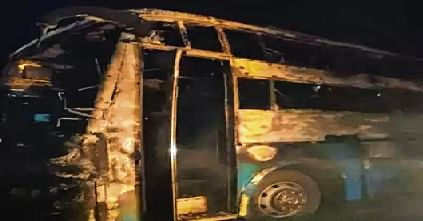 Karnataka bus fire: 5 of family charred