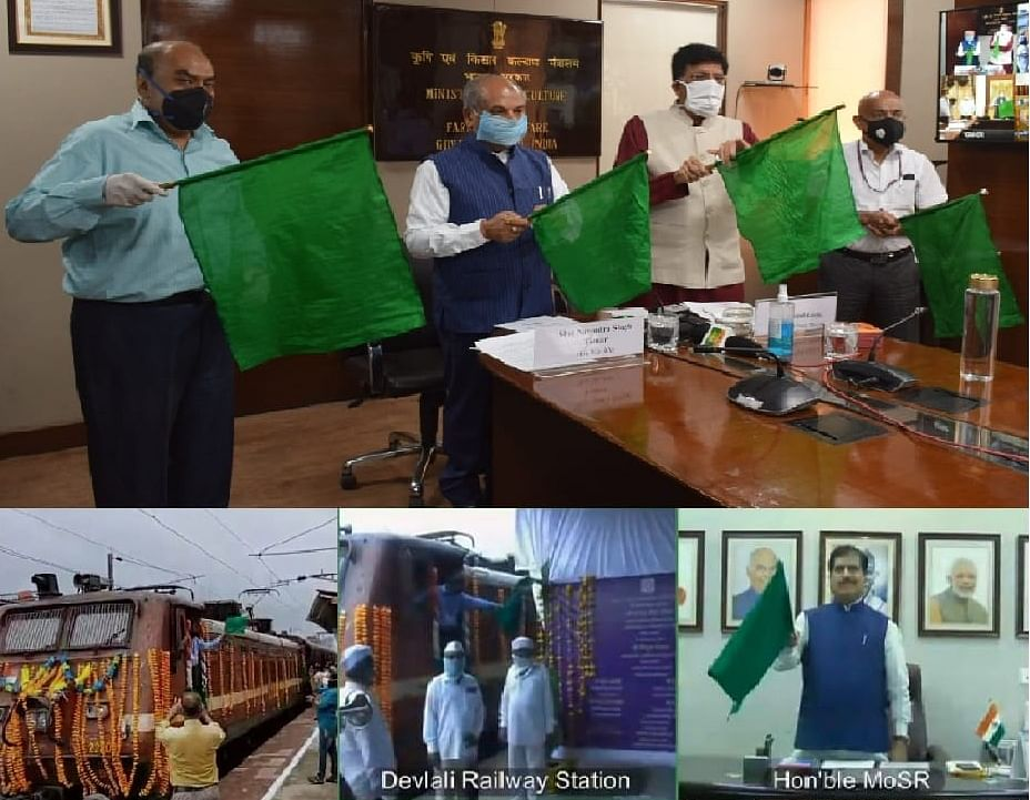 India's first 'Kisan Rail' flagged off from Deolali