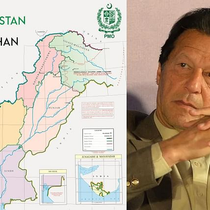 Imran Khan redraws political map of Pakistan, showing entire union territory of Jammu and Kashmir as its part