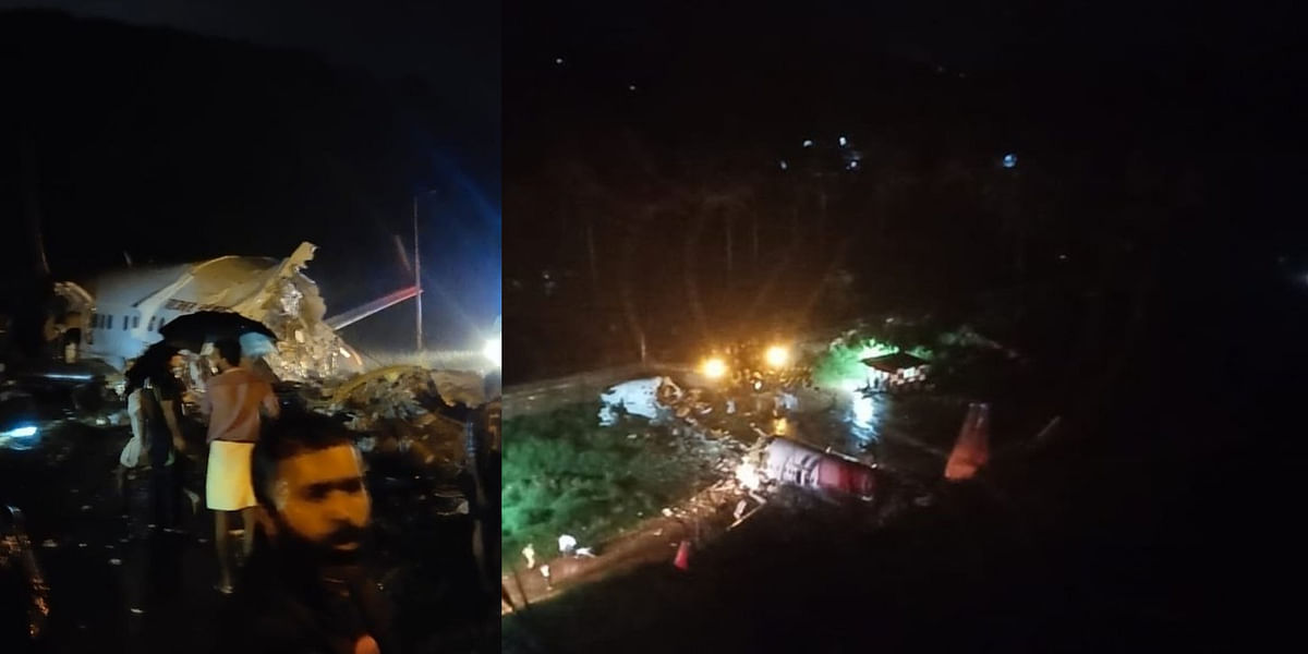 Calicut: Air India Express plane with 191 people on board crashes after going off runway