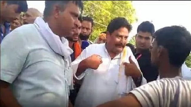 Madhya Pradesh: Minister Girraj Dandotiya who joins BJP faces protest in assembly constituency