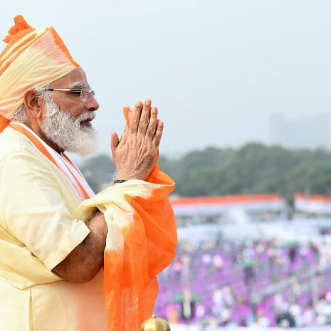 In Pictures: PM Modi hoists Indian flag at Red Fort, addresses nation on Independence Day 2020