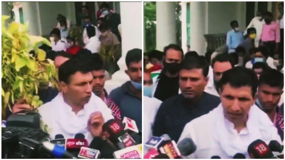 Congressmen led by state media in-charge Jitu Patwari, city president Vinay Bakliwal, MLA Vishal Patel, Premchand Guddu met Collector Manish Singh at Residency Kothi on Wednesday.