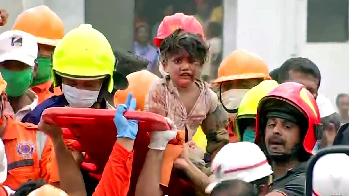 A 4-year-old boy was rescued from under the debris at the site of building collapse in Mahad, Raigad on Tuesday.
