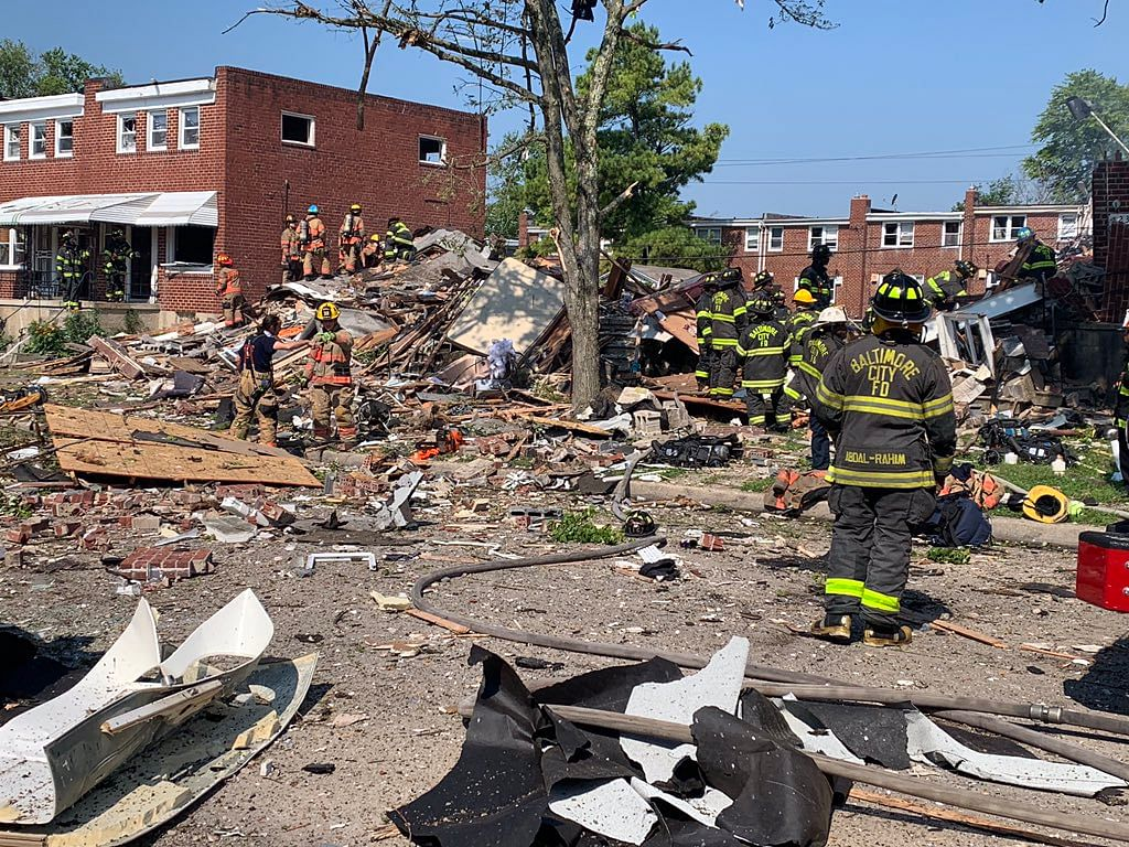 1 dead, others including children trapped as gas explosion flattens houses in USA's Baltimore