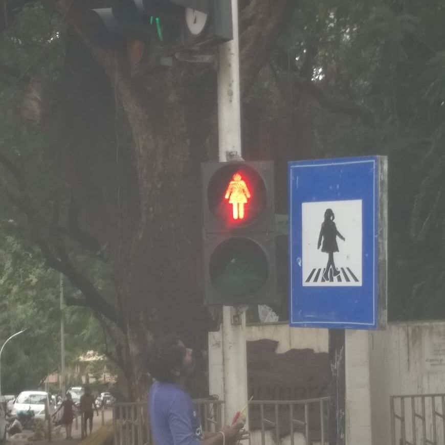 Gender Equality: Mumbai now has female figures on traffic lights and sign boards