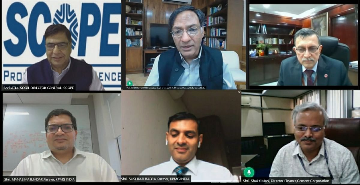 Secretary, DST exhorts corporates in SCOPE Webinar to leverage digital disruptions to shape the future